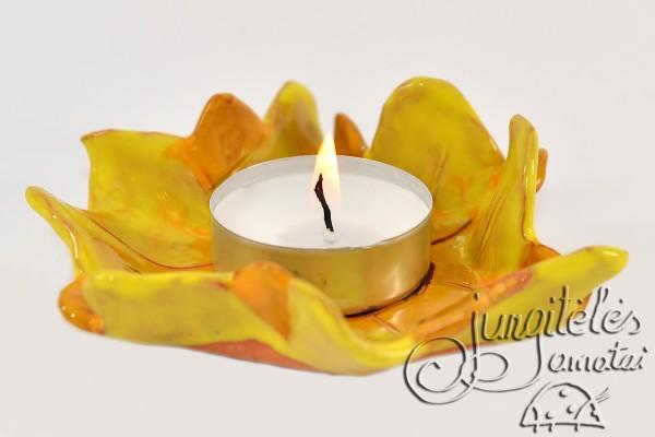 """Žvakidė """"Geltona saulėgrąžą"""""""