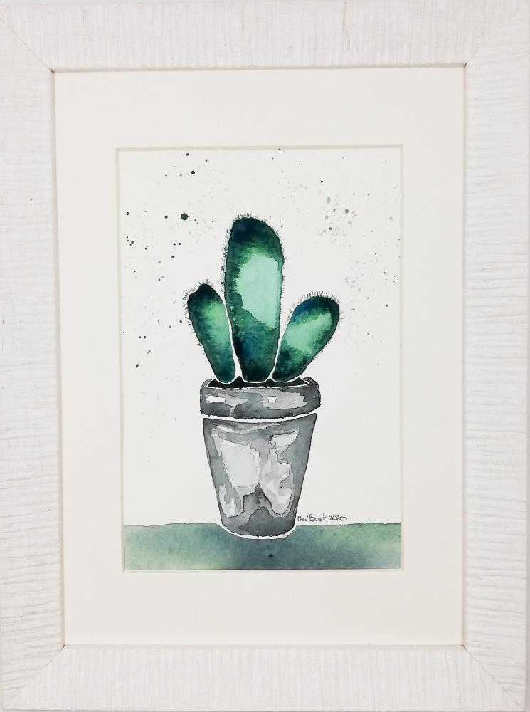 Kaktusas. Originalus akvarelinis paveikslas. Rankų darbo. 20-05