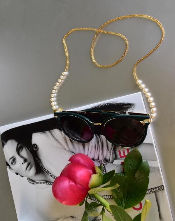 Swarovski perlų vėrinys - akinių laikiklis
