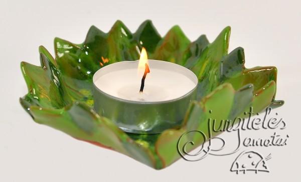 """Žvakidė """"Žalia saulėgrąžą"""""""