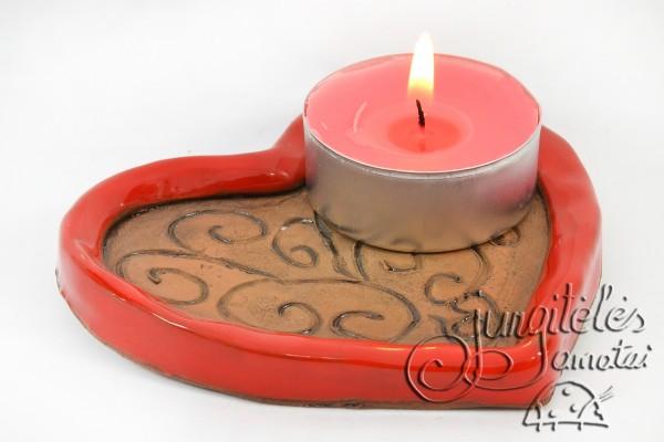 """Žvakidė """"Širdelė"""""""
